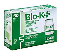 Bio K Plus Probiotic Fermented Dairy Original Bottles - 12-3.5 Fl. Oz.