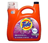 Tide Plus Laundry Detergent Liquid Febreze Freshness HE Clean Spring & Renewal - 138 Fl. Oz.
