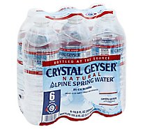 Crystal Geyser Spring Water Natural Alpine - 6-16.9 Fl. Oz.