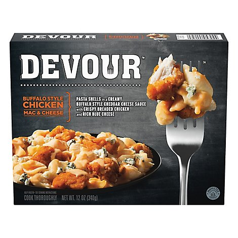 Devour Frozen Meals Mac & Cheese Buffalo Chicken - 12 Oz