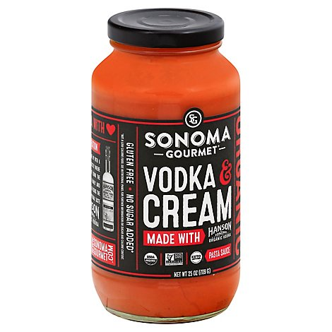 Sonoma Gourmet Pasta Sauce Vodka & Cream Jar - 25 Oz