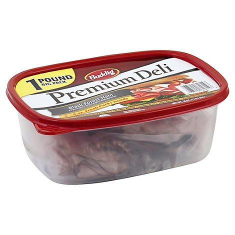 Buddig Premium Ham Black Forest Tub - 16 Oz