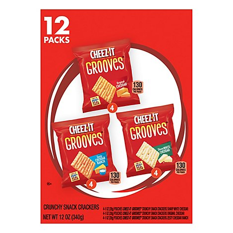 Cheez-It Crunchy Snack Crackers Variety Pack 12 Count - 12 Oz
