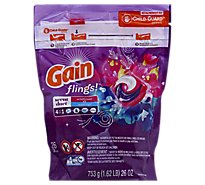 Gain Flings! Detergent 4 in 1 Scent Duet Wildflower & Waterfall Pacs - 26 Count