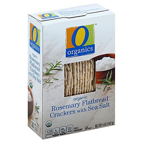 O Organics Crackers Organic Flatbread Rosemary with Sea Salt - 5 Oz