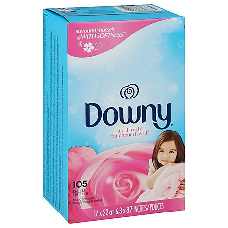 Downy Fabric Softener Sheets April Fresh Box - 105 Count