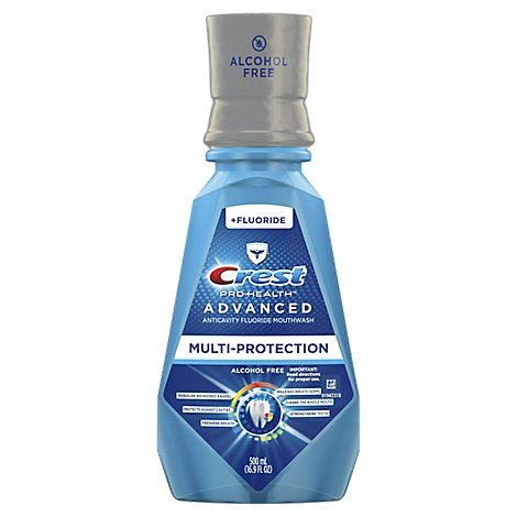 Crest Pro Health Advanced Mouthwash Alcohol Free Multi-Protection - 16.9 Fl. Oz.