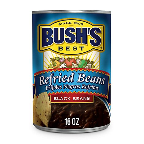 BUSHS BEST Cocina Latina Beans Refried Refritos Black Beans Can - 16 Oz