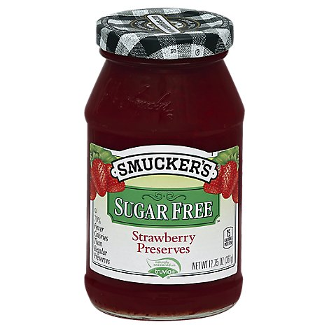 Smuckers Sugar Free Preserves Strawberry - 12.75 Oz