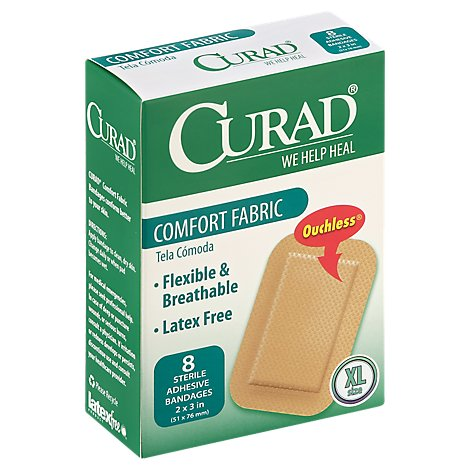 Curad Bandage Comfort Fabric Extra Large - 8 Count