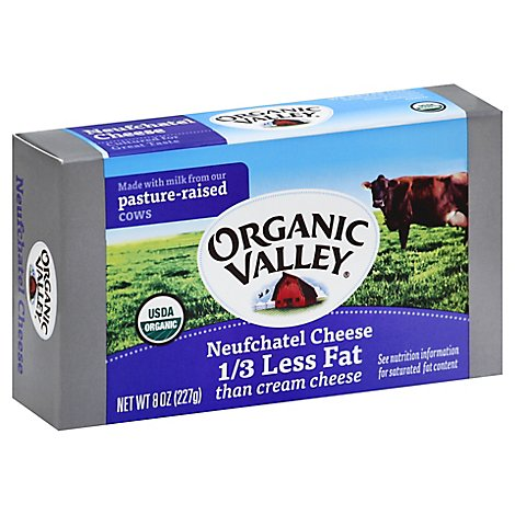 Organic Valley Neufchatel Cheese - 8 Oz
