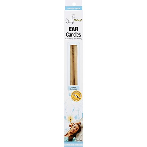 Wally Ear Candle Beeswax Plain - 2 Count