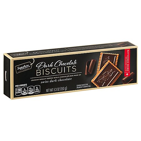 Signature SELECT Biscuits Dark Chocolate - 5.3 Oz
