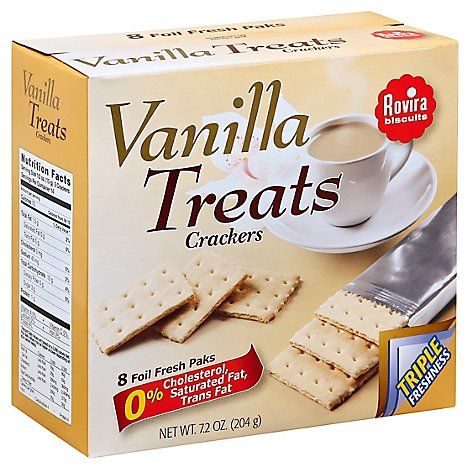 Rovira Biscuits Crackers Vanilla Treats Box 8 Count - 7.2 Oz