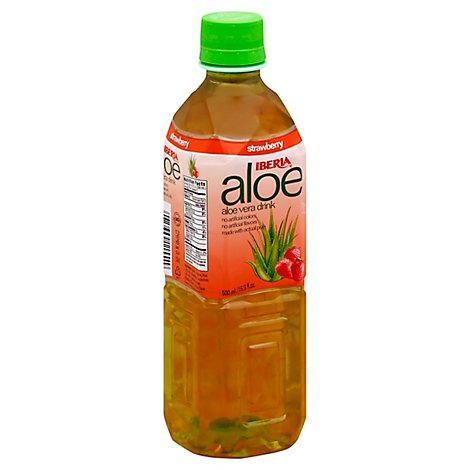 Iberia Drink Aloe Vera Strawberry Bottle - 16.9 Fl. Oz.