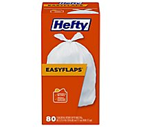 Hefty Trash Bag Tall Tie Easy Flaps - 80 Count