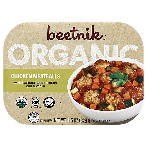 Beetnik Organic Chicken Meatballs - 11.5 Oz
