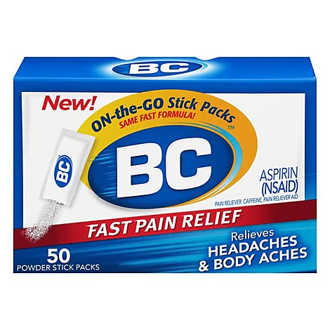 Bc Pain Relief Powder Headaches & Body Aches Fast Regular Str - 50 Count