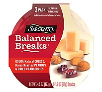 Sargento Balanced Breaks Cheese Snacks Gouda 3 Pack - 3-1.5 Oz