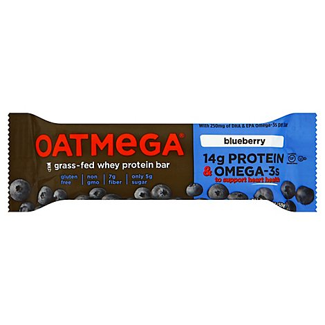 Oatmega Protein Bar Grass-Fed Whey Blueberry - 1.8 Oz
