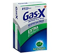 Gas-X Antigas Extra Strength Softgels - 50 Count