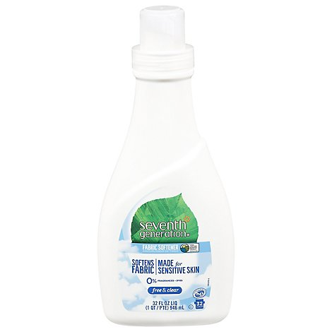 Seventh Generation Fabric Softener Liquid Free & Clear - 32 Fl. Oz.