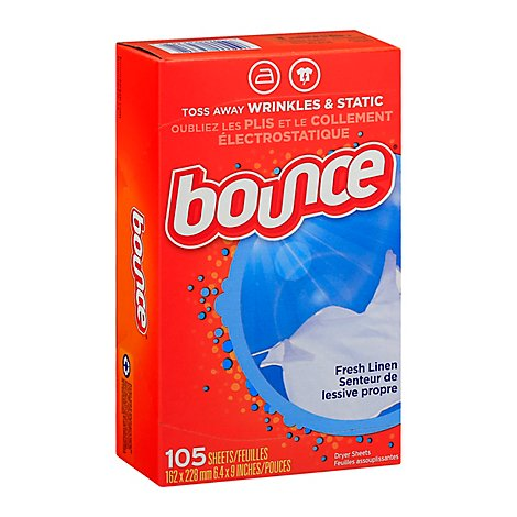Bounce Fabric Softener Dryer Sheets Fresh Linen - 105 Count