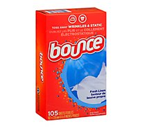 Bounce Fabric Softener Sheets Fresh Linen - 105 Count