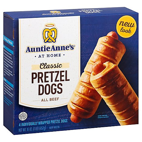 Auntie Annes Pretzel Dogs Classic All Beef 4 Count - 16 Oz