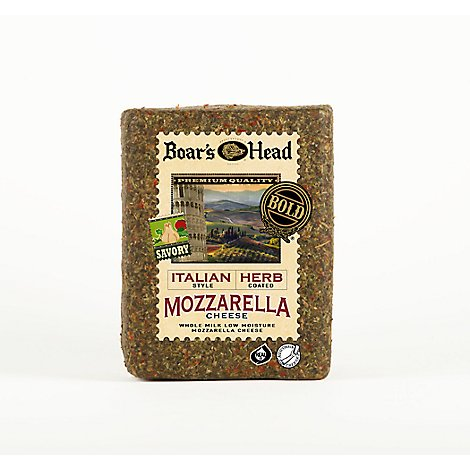 Boars Head Italian Herb Whole Milk Cheese Cube 0.50 LB