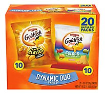 Pepperidge Farm Goldfish Crackers Baked Snack Cheddar Variety Pack - 20-0.9 Oz