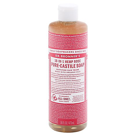 Soap Liq Rose - 16 Oz