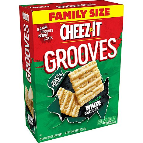 Cheez-It Crunchy Cheese Snack Crackers Sharp White Cheddar Family Size - 17 Oz