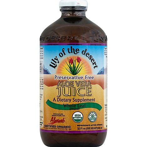 Juice Aloe Vera Pf Whl Leaf Or - 32 Oz