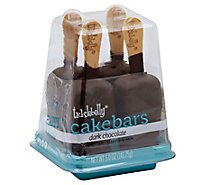 Cake Bar Dark Chocolate 4 Count - 5 Oz