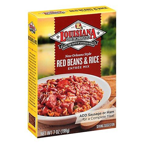 Louisiana Entree Mix Red Beans & Rice New Orleans Style Box - 7 Oz