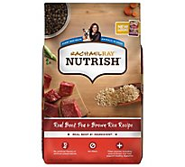 Rachael Ray Nutrish Adult Dry Dog Food Super Premium Real Beef & Brown Rice Recipe - 28 Lb