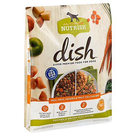 Rachael Ray Nutrish Food for Dogs Dish Chicken & Brown Rice Recipe Bag - 11.5 Lb