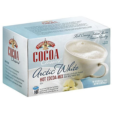 Land O Lakes Cocoa Classics Cocoa Mix Hot Arctic White - 10-0.53 Oz