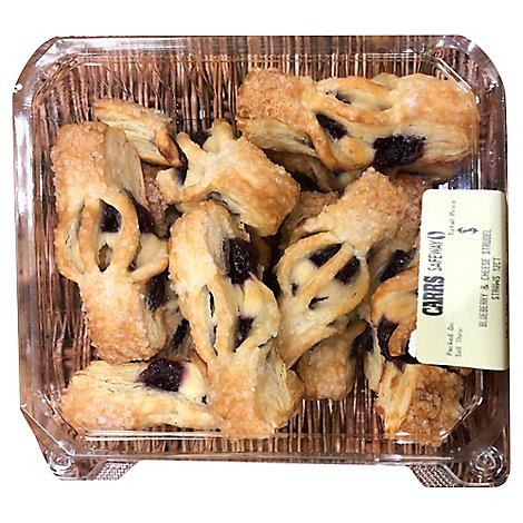 Bakery Strudel Straws Blueberry & Cheese 12 Count - Each