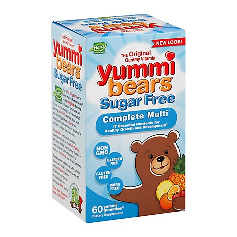 Yummi Bears Sugar Free Multi Vitamin & Mineral - 60 Count