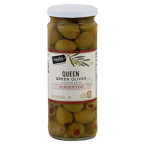 Signature SELECT/Kitchens Olives Queen Stuffed With Pimiento Jar - 10 Oz