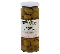 Signature SELECT Olives Queen Stuffed With Pimiento Jar - 10 Oz
