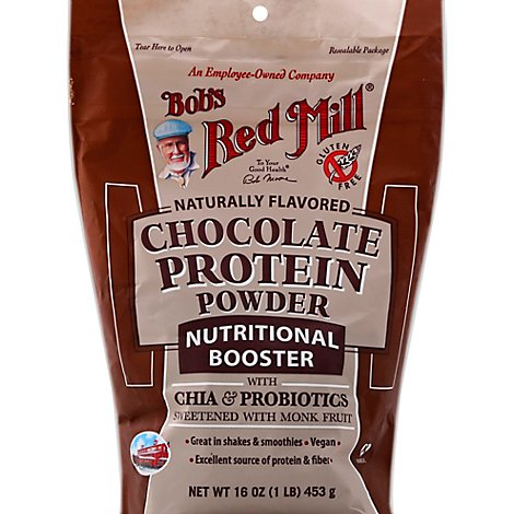 Bobs Red Mill Protein Powder Chocolate Nutritional Booster - 16 Oz
