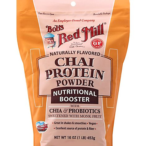 Bobs Red Mill Protein Powder Chai Nutritional Booster - 16 Oz