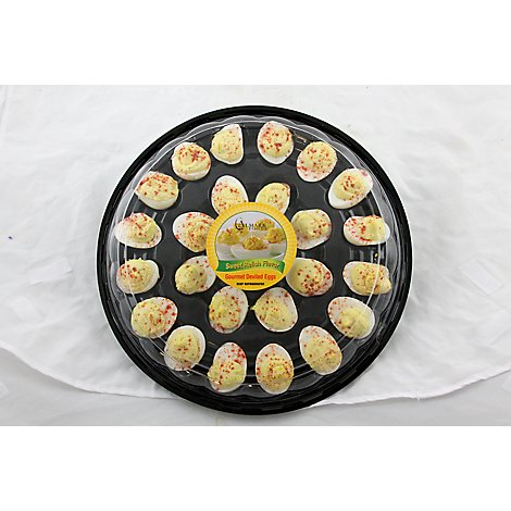 Almark Foods Deli Catering Tray Sweet Relish Deviled Eggs - 24 Count