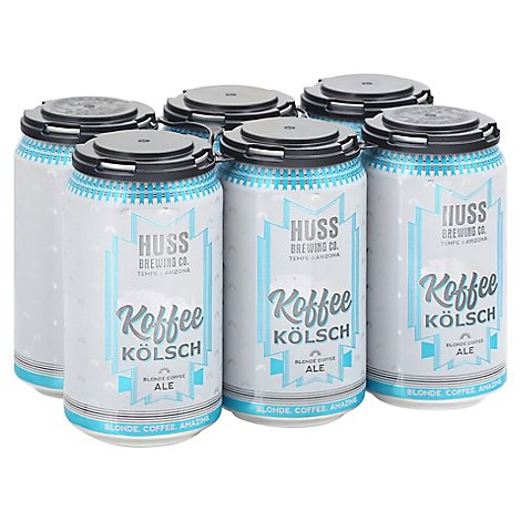 Huss Brewing Koffee Kolsch In Cans - 12 Oz