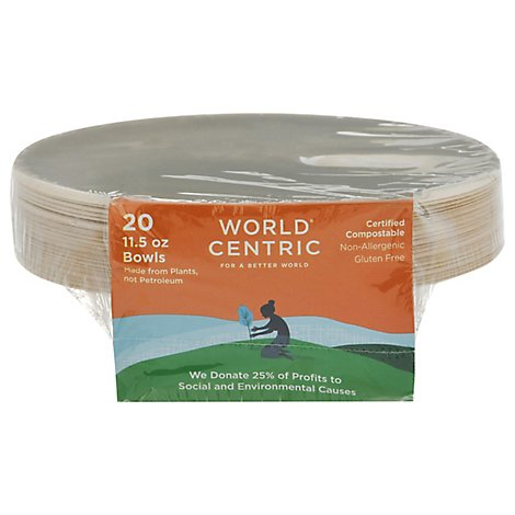 World Centric Bowls Gluten Free 11.5 Ounce Wrapper - 20 Count