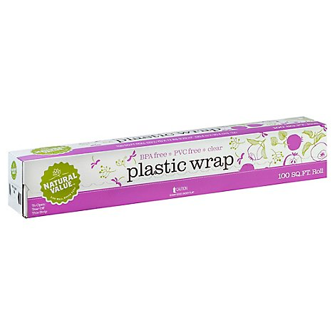 Natural Value Plastic Wrap Roll - 1 Each