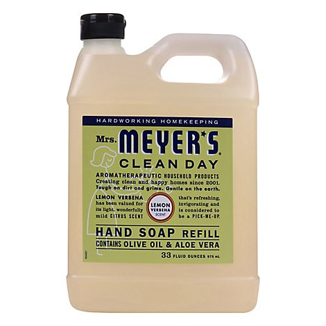 Mrs. Meyers Clean Day Liquid Hand Soap Refill Lemon Verbena Scent 33 ounce bottle